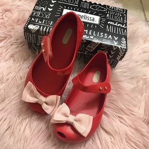 Red mini melissa shoes